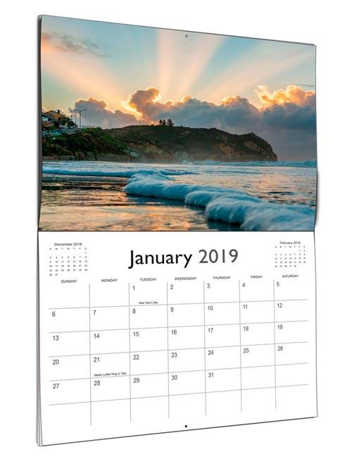 2020 Beach Calendar Avila Beach Sunrise Calendar   2019 Wall Calendar | Jay Olson